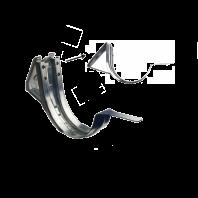 Dakgootmuurbeugel + verstelbare gradenplaat