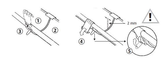 kraalbeugel vastzetten met vergrendelingslip